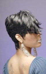 short black hair styles with flips