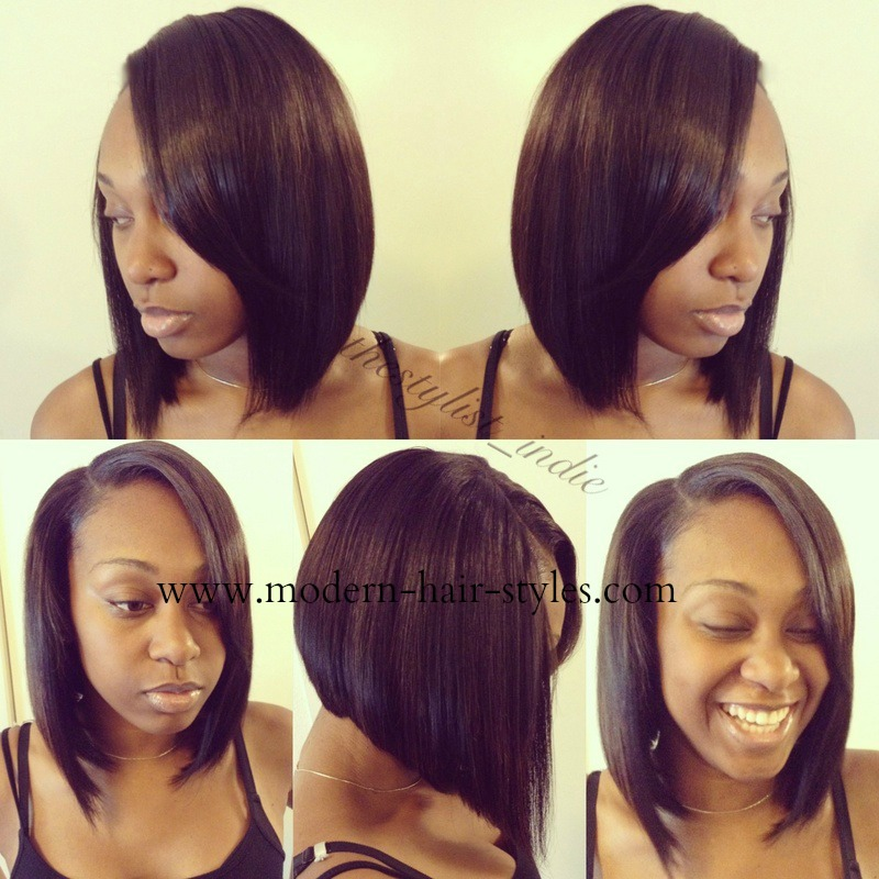 Black Bob Hair Styles Quick Weaves Invisible Parts And Custom Units