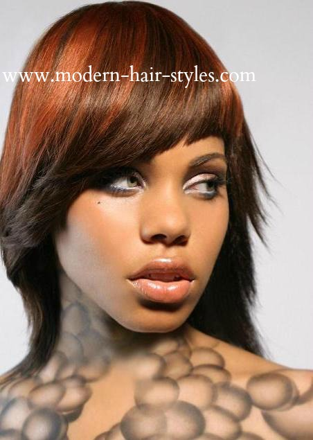 Black With White Highlights For African American Women  Dark Brown Hairs