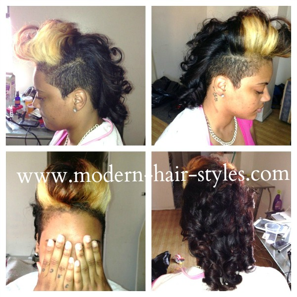 Black Hairstyles with Shaved Sides
