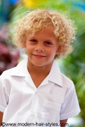 boys hair styles for curly hair