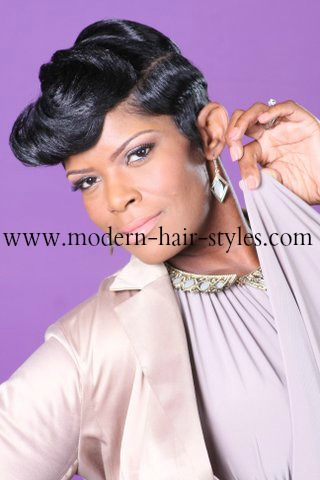 Short Black Hair Pictures And Styling Options For Relaxed