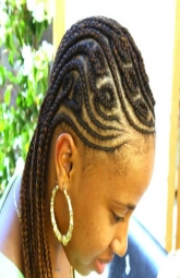 Cornrows with free style designs