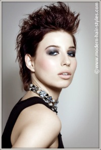 Emulate the look of this new short hair style which has a feminine yet stylish and not so punk looking Mohawk.
