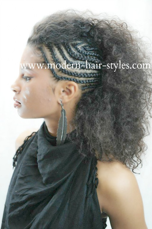 Mohawk Hairstyles for Black Women with Natural Hair