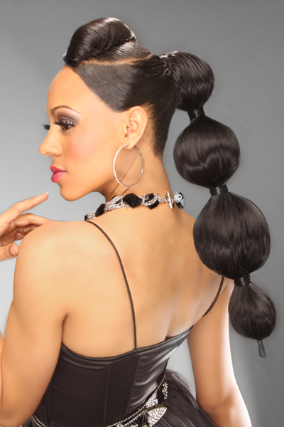 High Fashion ponytail ideal for certain types of modeling