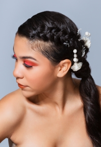 This ideal ponytail hairstyles is ideal for Prom and Weddings.