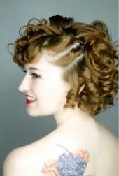 prom hairstyles for short hair with spiral curls