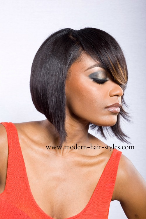 Feathered Bob Hairstyles for Black Women