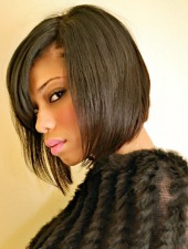 short black hair styles for fine hair