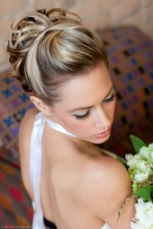 short bridal hair