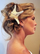 short hair wedding styles for beach weddings
