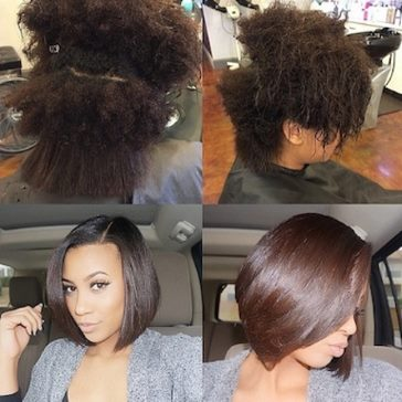 Ideas for straightening natural hair