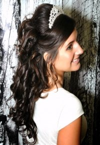 Half Up-Half down hair style for High School Prom.