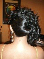 prom hairstyles for short hair for black girls