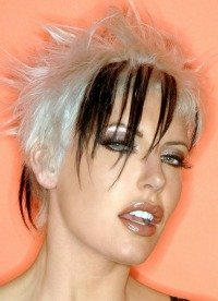Two tone punk short hairstyles