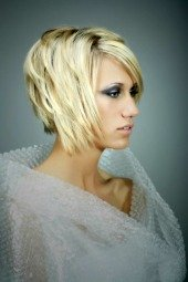 short layered bob haircut photos